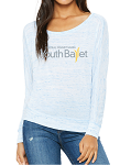 Bella + Canvas Ladies' Flowy Long-Sleeve Off Shoulder T-Shirt
